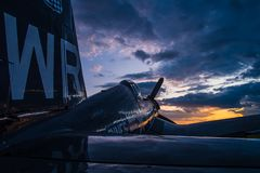 Peace and Quiet on the Flightline stock image