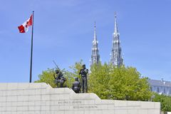 The peace and reconciliation monument in Ottawa, Canada royalty free stock photo