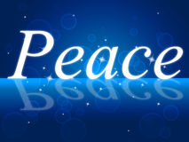 Peace Relaxation Represents Love Not War And Calm. Peaceful Relaxation Showing Love Not War And Break Relief Stock Images