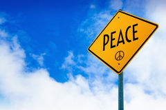 Peace Road Sign Royalty Free Stock Photos