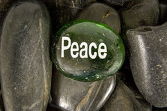 Peace Rock and Stones Royalty Free Stock Photos