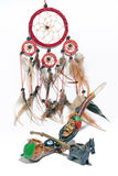 Peace rod and the dream catcher Stock Image