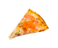 Peace of Salmon pizza Royalty Free Stock Photos