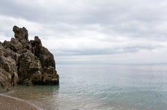 Peace at sea. Croatian's sea in autumn, during peacefull day Stock Photos