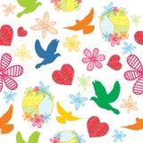 Peace, seamless background Stock Photo