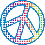 PEACE sign. With Rainbow dots Stock Photography
