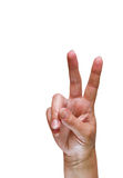 Peace sign Royalty Free Stock Images