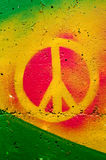 Peace sign. Highly detailed close up image of a grunge peace sign grafitti royalty free stock photos