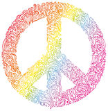 Peace sign. Royalty Free Stock Image