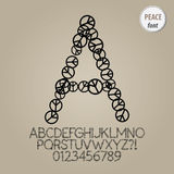 Peace Sign Alphabet and Digit Vector Stock Photography