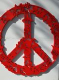 The peace sign royalty free stock photo