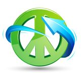Peace Sign with Arrow Royalty Free Stock Photo
