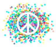 Peace sign. Beautiful symbol of peace Stock Images