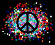 Peace sign. Beautiful symbol of peace Royalty Free Stock Images