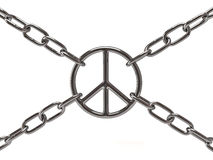 Peace sign in chain Stock Photo
