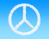 Peace Sign from clouds Stock Photography