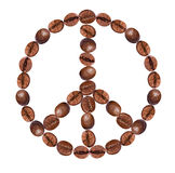 Peace sign  from coffee Stock Image