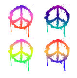 Peace sign in color Royalty Free Stock Photography