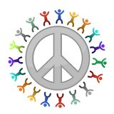 Peace sign diversity illustration Royalty Free Stock Images