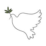 Peace dove illustration. Dove of peace illustration; Peace sign Royalty Free Stock Images