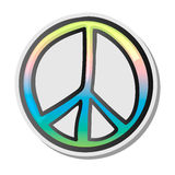 Peace sign, emoji, sticker, emoticon, vector illustration. Peace sign, colourfull sticker, white isolated background, vector illustration Stock Image