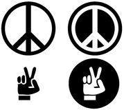 Peace sign and gesture Royalty Free Stock Images