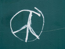 Peace sign. Graffiti on a metal surface in the form of a peace sign Royalty Free Stock Photography
