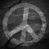 Peace sign grunge background textured Royalty Free Stock Photography