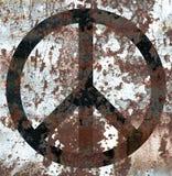 Peace sign grunge smoke flag.  Stock Photography