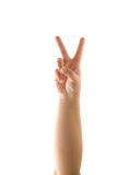 Peace Sign Hand Royalty Free Stock Photo