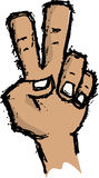 Peace Sign Hand Sketch Royalty Free Stock Image