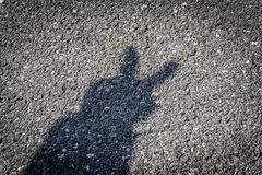 Peace Sign. Human Hand Peace Sign Shadow Stock Photo