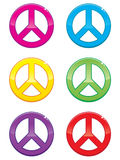 Peace Sign Icons Stock Photo