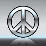 Peace sign illustration Metallic Royalty Free Stock Photo