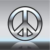 Peace sign illustration Metallic Royalty Free Stock Photo