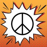 Peace sign illustration. Vector. Comics style icon on pop-art ba. Ckground vector illustration