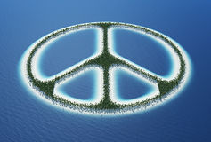 Peace sign island Royalty Free Stock Image