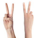 Peace sign Stock Photo