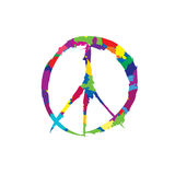 Peace sign. Love & peace painted with a brush icon. Royalty Free Stock Image