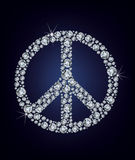 Peace sign made up a lot of diamonds Royalty Free Stock Photos