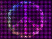 Peace sign multicolor abstract lights background Stock Photos