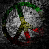 Peace sign rasta grunge background textured Stock Photo