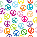 Peace sign seamless pattern Stock Photos