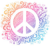 Peace Sign Sketchy Doodle Vector Royalty Free Stock Photography