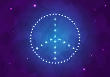 Peace sign from stars. Peace sign from light stars Stock Images