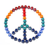 Peace sign. This is symbol of peace Made with coffee capsules Stock Image
