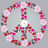 Peace Sign. Vector illustration of an abstract peace sign Royalty Free Stock Photography