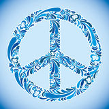 Peace sign vector. Stock Images