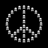 Peace sign vector isolated with white skull Royalty Free Stock Photos