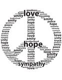 Peace Sign Of Words Royalty Free Stock Image